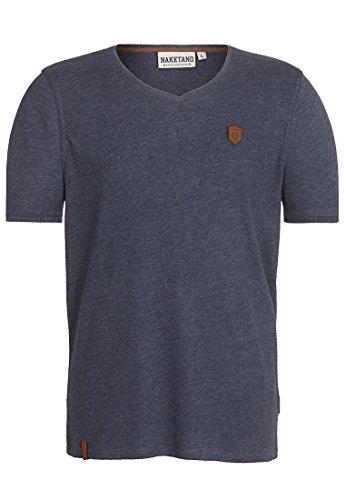 Naketano Male T-Shirt Gelinde gesagt Indigo Blue Melange, M