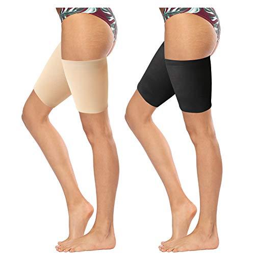 Zwei Schwestern Kostüm - FANTESI 2 Paar elastische Oberschenkel-Bänder, Anti-Scheuern Oberschenkel-Bänder verhindern Scheuern der Oberschenkel Beinbänder, unsichtbare Oberschenkelbänder Gr. A, multi