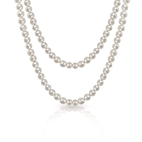 Bling Jewelry White Freshwater Cultured Pearl Long Necklace Rope
