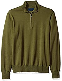 Buttoned Down Supima Cotton Quarter-zip Sweater Olive, US L (EU L)