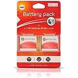 2 x Batería MP EXTRA ® NPBN1, NP-BN1 para cámaras digitales Sony DSC-W310 , W320 , W350 , W380 , WX5 , TX5 , TX9 , T99 , TX7