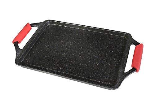 WeCook Ecochef 10701, Plancha de Asar Antiadherente, Inducción, Vitrocerámica, Fogón, 43 x 25 cm Aluminio y Piedra Libre de BPA