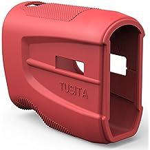 TUSITA Funda protectora para Bushnell Tour V4, funda de silicona de repuesto Accesorios para Bushnell Tour V4 Golf Laser Rangefinder (ROJO)