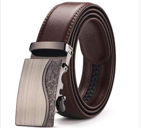 ZHYAODAI Mens Belts Luxury Real Leather Belts for Men Buckle Metallic Mens Jeans Authentic Leather Belt, 9,125Cm