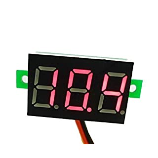 Aihasd Mini Digital Voltmeter LED Panel Voltage Meter Spannungsanzeige Panelmeter DC 2.5-30V Rot