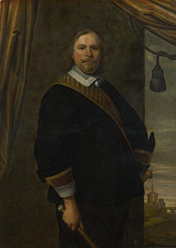 Das Museum Outlet–Cesar Van Everdingen–Portrait Of A Dutch Commander, gespannte Leinwand Galerie verpackt. 29,7x 41,9cm (Küche Commander)