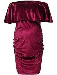 2830a6ddbdda Amazon.it  vestiti rossi - A portafoglio e sblusato   Vestiti   Donna   Abbigliamento