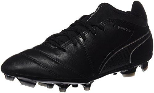 Puma Herren ONE 17.3 AG Fußballschuhe, Schwarz Black-Silver, 42 EU