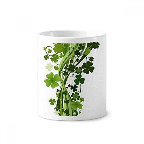 DIYthinker Clover Baum Irland St.Patrick Tag Keramik Zahnbürste Stifthalter Tasse Weiß Cup 350ml Geschenk 9.6cm x 8.2cm hoch Durchmesser -