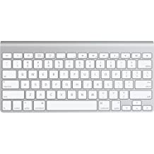 Apple Wireless Keyboard - Teclado (Bluetooth, Plata, QWERTY, AA, 2.0+EDR, Mac OS X v10.5.8)