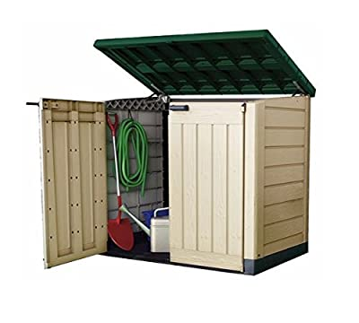 Keter Plastic Storage Unit Box Garden Shed Outdoor Sheds For Wheelie Bins Tools Bikes Lawn Mowers Patio Shade Protect your Garden Equipment New And Improved Design Very Solid Construction - inexpensive UK light store.