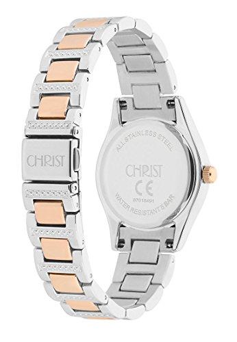 CHRIST times Damen-Armbanduhr Analog Quarz One Size, silberfarben, silber -