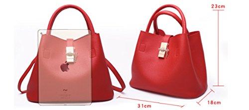 PDFGO Damen Handtasche Mode Umhängetasche Teller Blau Tasche Eimer Tasche Taschentasche C