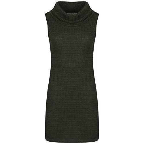 Get The Trend - Robe - Manches Longues - Femme Gris Gris SLEEVELESS GREEN