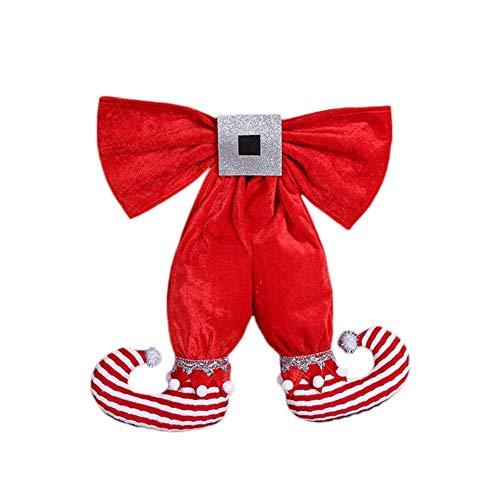 (Weihnachtspuppe Dekoration Reputedc Weihnachtsschmuck Vintage Niedlichen Stoff Elf Fuß Bogen Weihnachtsbaum Puppe Mall und Hotel Dekoration Anhänger 35 * 40 cm)