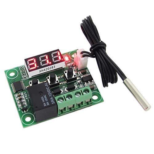 Luckiests Temperaturschalter LCD-Display-12V Digital Temp Controller High Precision Wasserdicht Sensor 20A Relais -