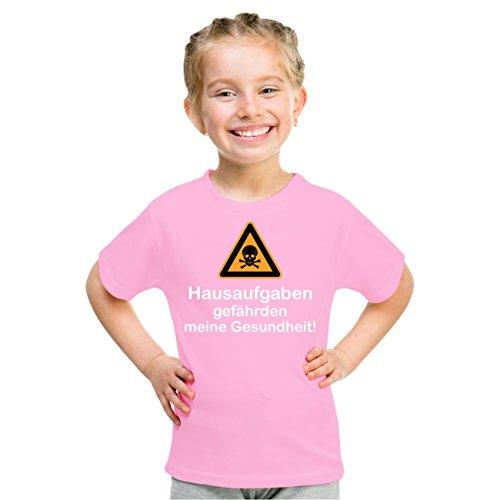Kinder T-Shirt HAUSAUFGABEN gefährden meine Gesundheit Rosa