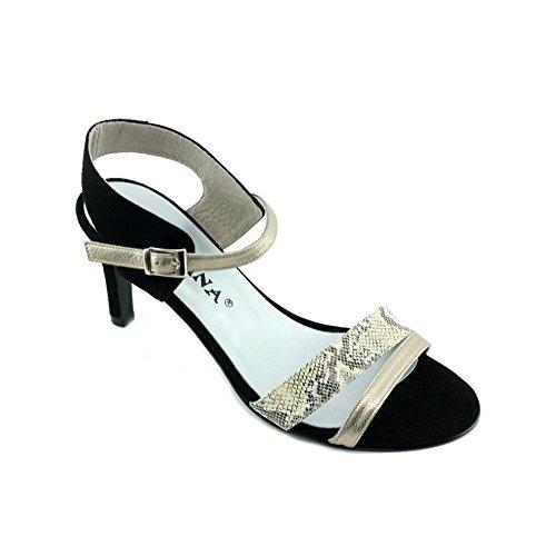 Lana - Sandales Noir raffinée mode - Angelina N-Noir