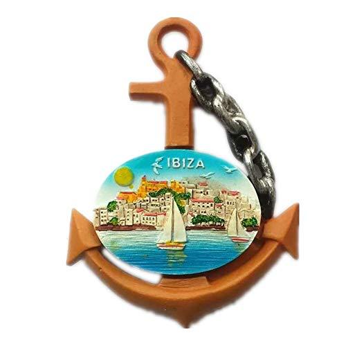 Preisvergleich Produktbild Kühlschrankmagnet Ibiza Spanien 3D Harz Handgemachtes Handwerk Touristische Reise Stadt Souvenir Sammlung Brief Kühlschrank Aufkleber
