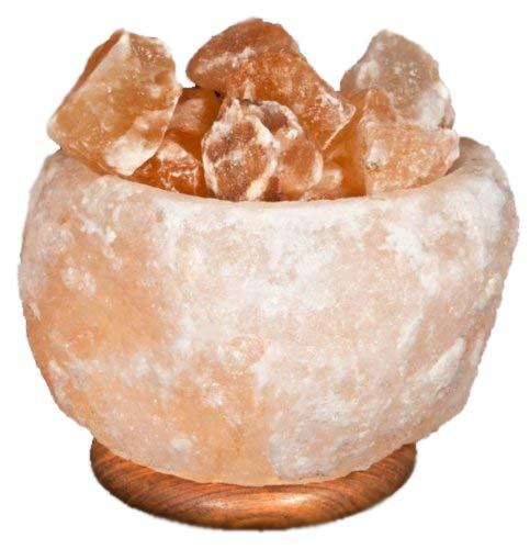 Lampada di sale dell'himalaya a braciere