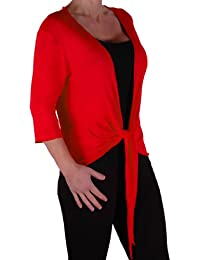 EyeCatch - Rivera Mid Length Womens Shrug Wrap Cardi Ladies Plus Sizes 14 - 28
