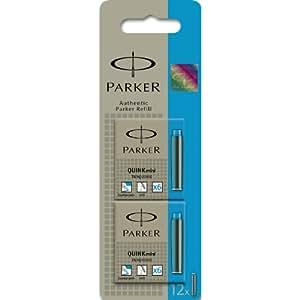 Parker Quink Ink Cartridges Short Turquoise pk of 12 Ref:S0767330