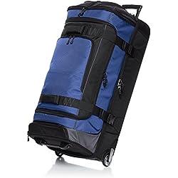 AmazonBasics Sac de voyage à roulettes en Ripstop, 89 cm - Bleu