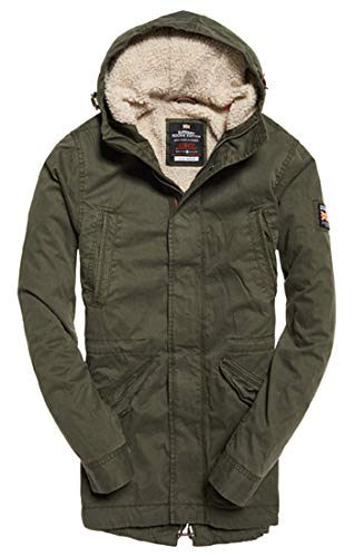 Superdry Herren New Military Parka, Blau (Forest Night Tdf), X-Large