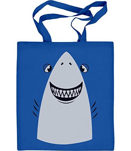 Blau Kostüm Weiser Mann - Shirtgeil Weißer Hai Karneval, Fastnacht, Fasching Kostüm Jutebeutel Baumwolltasche One Size Blau