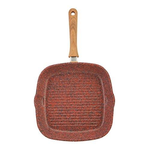 Quicker and Cleaner JML Copper Stone Pans 28cm Griddle Pan Healthier