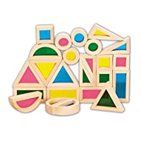 TickiT 73275 Rainbow Block Set, 24 Pieces, Rainbow