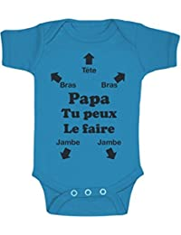 Green Turtle T-Shirts Papa Tu Peux Le Faire ! Futur Papa Naissance Body Bébé d7d6bed523b