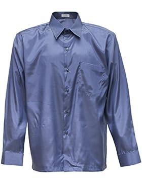 Camiseta para hombre de manga larga de seda tailandesa gris, gris, xxx-large