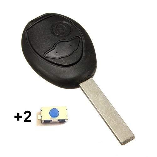 Coque de clé plip 2 boutons pour télécommande Mini Cooper S D One Clubman sans LOGO + 2 boutons switch