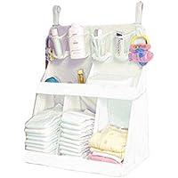BIAOZH Bolsa de Almacenamiento para Pañales de bebé, Diseño de Cabeza de Babero, Color Blanco