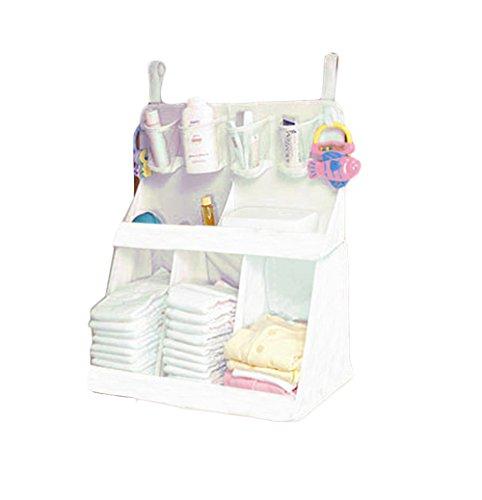 Baby Bettwäsche Kinderbett Head Baby Bettwäsche Aufhängen Tasche Windel Aufbewahrungstasche von Kayley. (weiß)