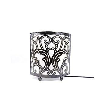 lampe de chevet style marocain oriental fer forg tissu blanc luminaires et eclairage. Black Bedroom Furniture Sets. Home Design Ideas