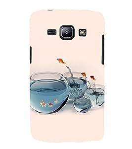 PrintVisa Playing Fishes 3D Hard Polycarbonate Designer Back Case Cover for Samsung Galaxy J2 J200G (2015):: Samsung Galaxy J2 Duos :: Samsung Galaxy J2 J200F J200Y J200H J200GU
