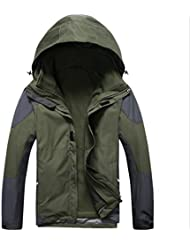 XLHGG Venture Jacket Sportwear extérieure coupe-vent imperméable à l'eau Jacket(Warm two-piece) masculine