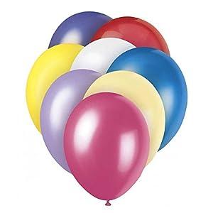 Gifts 4 All Occasions Limited SHATCHI-107 - Lote de 50 globos de látex multicolores para decoración de fiestas, 30,5 cm