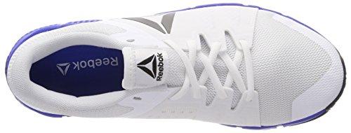 Reebok Trainflex, Scarpe da Fitness Uomo Bianco (White/vital Blue/pewter/black)