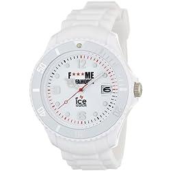 Ice-Watch Unisex-Armbanduhr Big Big F*** Me I'm Famous classic Weiss FM-SI-WE-BB-S-11