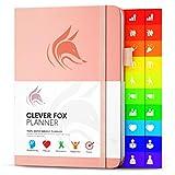 Der Clever Fox Planer - Kalender Notizbuch Organizer Tagebuch zur Steigerung von Produktivität, Motivation, Achtsamkeit, Lebensfreude, Glück, Erfolg und Zielerreichung in den Jahren 2019, Pfirsichrosa