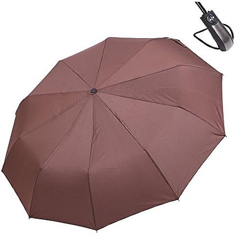 HiViolet Ombrello Pieghevoli Antivento,Compatto Antivento per Esterno da Viaggio,10 Stecche Rinforzate Automatico Apri e Chiudi per Permetterne l'uso con una Sola Mano ,42