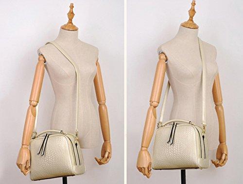 Longzibog Dual verstellbare Schultergurte und Hängeschlaufenband Mode Simple Style Fashion Tote Top Handle Schulter Umhängetasche Satchel Tiefblau