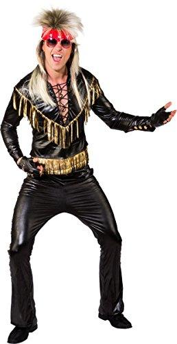 Herren Kostüm 80er 90er Rocker Rockstar Karneval Fasching (80's Rocker Kostüm)