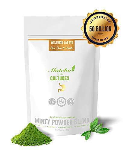 Grüner Tee Matcha Pulver ★ 50 Milliarden CFU Probiotika | Kulturen für gesunde Darmflora
