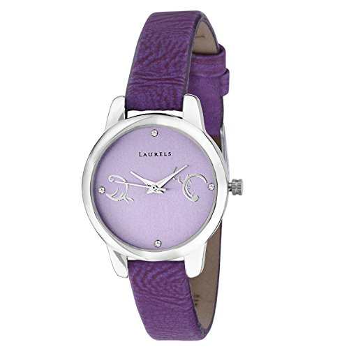 Laurels Purple Color Analog Women's Watch With Strap: LWW-GRC-141407