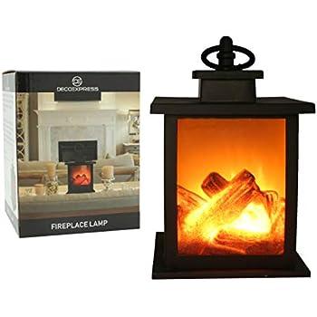 Plastic 35cm Flameless Flickering LED Log Burner Fireplace Decoration
