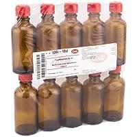TROPFFLASCHE 50 ml m.Einsatz+Verschluss braun 10 St Flaschen preisvergleich bei billige-tabletten.eu